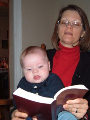 Reading Scriptures at 5 1/2 months!