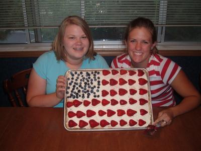 Jess and Holly's Pretty, Patriotic, and Perfectly delicious cake!