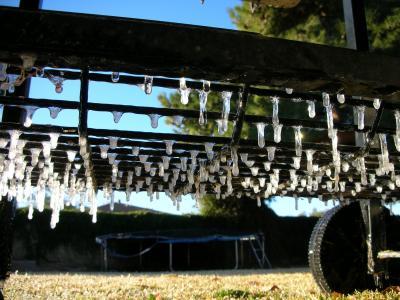 Icicles in Mesa Arizona!