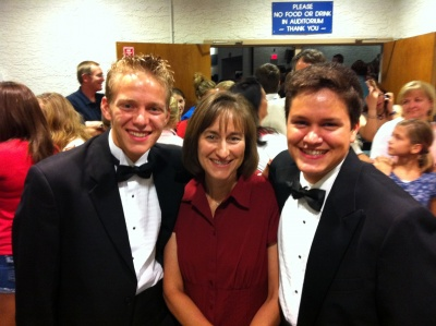 Daniel and Josh participate in Mountain View Choir Concert