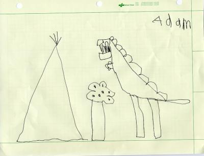 Adam the T-Rex artist