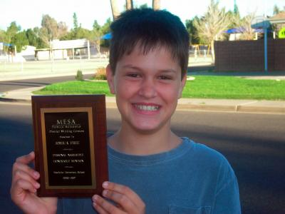Mesa District Writing Contest Personal Narrative Winner