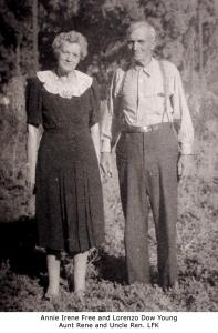 Annie Irene Free and Lorenzo Dow Young