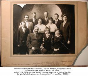 Wallace Hamblin and Ida Minerva Rollins Family